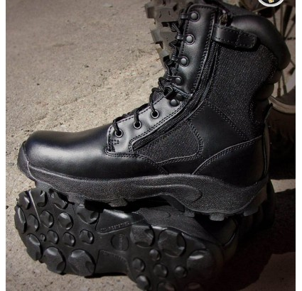 Urban tactical DAKOTA high black leather boots