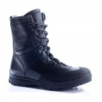 "Russian leather warm winter tactical BOOTS with fur ""COBRA"" 12034"