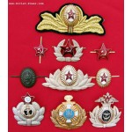 10 Russian MILITARY BADGES from USSR Army + Navy insignia
