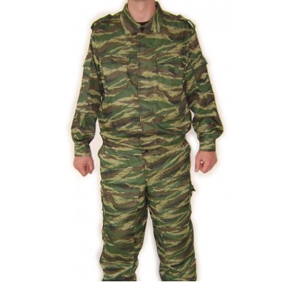Été Spetsnaz camo uniforme TIGRE motif vert roseau