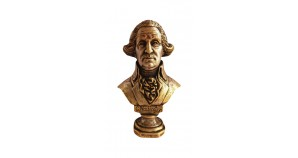 Bronze bust of the 1st president of the United States George Washington