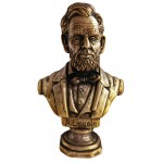 Bronze bust of the 16th president of the United States Abraham Lincoln