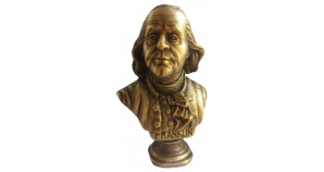 Bronze bust of the Founding Father of the United States Benjamin Franklin