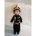 Bambola di plastica vintage sovietica Flotta navale Bambola Marshall