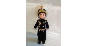 Soviet vintage plastic doll Naval Fleet Genuine blue-eyed Admiral doll