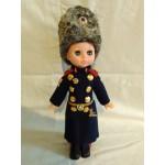 Soviet vintage plastic doll Infantry Genuine blue-eyed Marshall doll