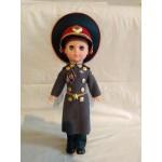Bambola di plastica vintage sovietica Soldati di fanteria Bambola Marshall genuina dagli occhi blu