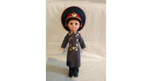 Soviet vintage plastic doll Infantry Soldier Genuine blue-eyed Officer doll