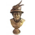 Königin des Vereinigten Königreichs Elizabeth II Bronze Büste
