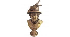 Queen of The United Kingdom Elizabeth II Bronze Bust