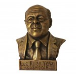 Bronze bust of Singapore Prime Minister Lee Kuan Yew