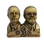 Buste en bronze du pacte Molotov – Ribbentrop
