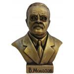 Bronze bust of Soviet politician Vyacheslav Molotov