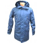 Russische Armee Parka warme Kapuze Blue Jacket Wintermantel