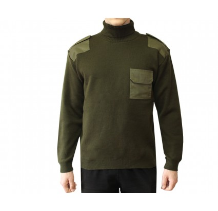 Russian Spetsnaz Officers warm military olive sweater