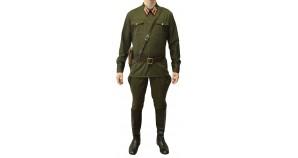Soviet Army Infantry Lieutenant Russian khaki uniform