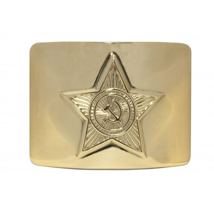 Russian military golden metal buckle with star for belt