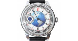 Poljot Mechanical Soviet Watch non transparent Earth USSR Russian Vintage Watch