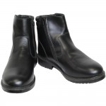 Demi-season Russian Ankle boots for Army Modern Officers black leather footwear
