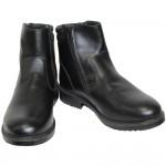 Bottines russes demi-saison pour officiers modernes de l'armée, chaussures en cuir noir