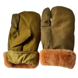 Russian Tactical woolen winter khaki gloves for Gorka suit