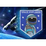 Patch russe brodé à manches cousues Space Explorer