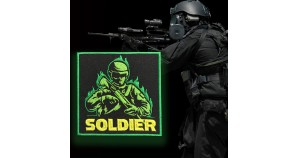 Armed Forces Soldier Embroidery Sleeve Sew-on Patch