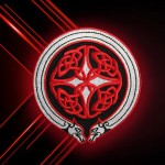Knot Celtic Ornament Red Embroidered Iron-on / Velcro patch