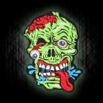Halloween Monster Haunted House Stickerei Klettverschluss / Bügelbild