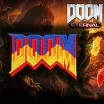 Emblème de broderie de jeu d'ordinateur Doom Eternal Velcro / Patch thermocollant