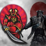 Samurai Japan Warrior in Armor Embroidery Sleeve patch