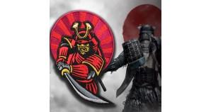 Samurai Japan Warrior in Armor Embroidery Sleeve patch