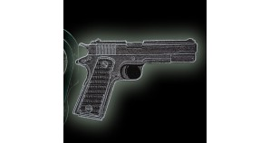 Military Gun Desert Eagle Embroidery Sew-On Patch