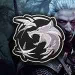 The Witcher Wolf Amulet Patch TV Series and Game Emblem Embroidered Iron On