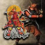 Samurai Japan Warrior in Armor Embroidery Sleeve patch #2
