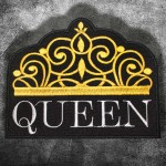 Queen Crown Grey Embroidery Sew-on Sleeve Patch