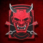 Devil Oni Demon's Embroidered Back Sleeve Patch