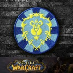 Toppa da cucire / termoadesiva con logo di World of WarCraft The Alliance