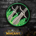 World of WarCraft Rogue Class Logo Embroidery Sew-on / Iron-on Patch