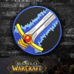 Toppa da cucire / termoadesiva con logo della classe Warrior di World of WarCraft