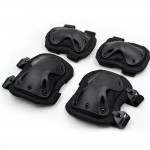 Russian army Tactical Black protection knee / elbow pads for Airsoft / Combat gear