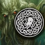 Patch termoadesiva / velcro ricamata Call of the Cthulhu Lovecraft # 2