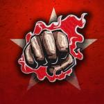 Parche para coser / planchar con bordado Fire Fist One Punch Man
