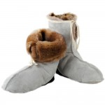 Russian Warm Winter House slippers Sheepskin Fur socks