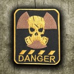"""S.T.A.L.K.E.R. """"DANGER"""" Gas Mask Embroidery Sew-On patch"""