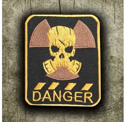 """S.T.A.L.K.E.R. Parche para coser bordado con máscara de gas """"DANGER"""""""