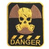 """S.T.A.L.K.E.R. Écusson à coudre de broderie de masque à gaz """"DANGER"""""""