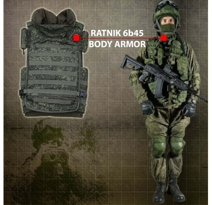Russian Army 5A class MOLLE body armor vest 6b45 all sizes