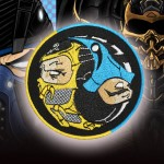 Mortal Kombat SubZero / Scorpion besticktes Spiel Iron-on / Velcro Patch