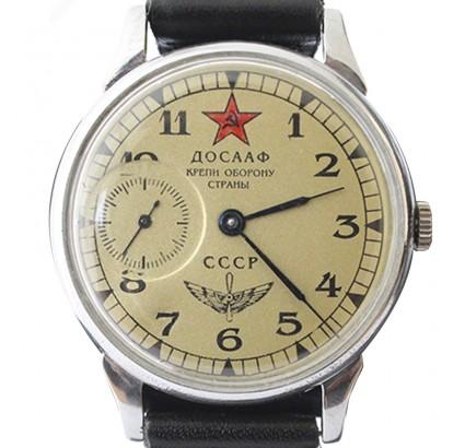 Soviet MOLNIYA wrist watch Russian Army DOSAAF